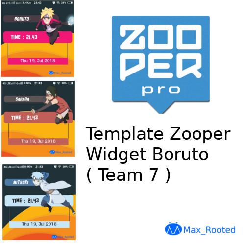 Template Zooper Widget Boruto ( Team 7 ) | MaxRooted