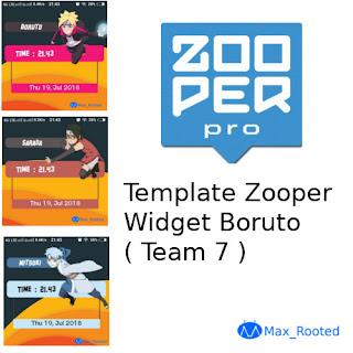 Template Zooper Widget Boruto ( Team 7 )