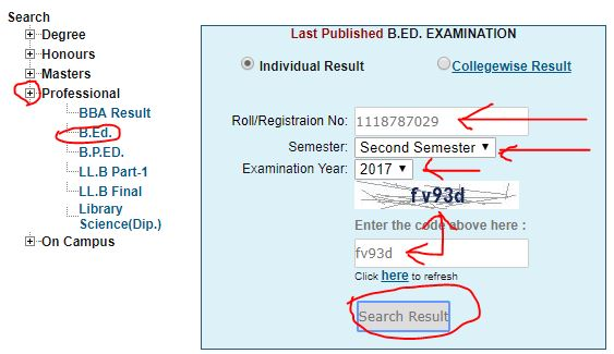B.ED Result 2019-2018, BED Exam Result 2019-2018