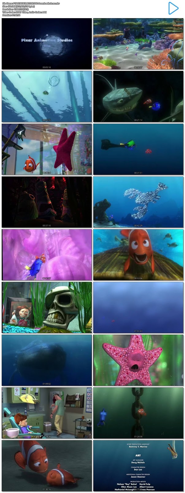 Finding Nemo 2003 Hindi Dual Audio 720p HEVC BluRay Free Download
