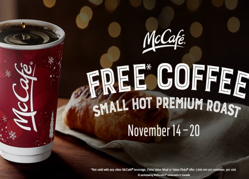Mcdonalds Free McCafe Coffee
