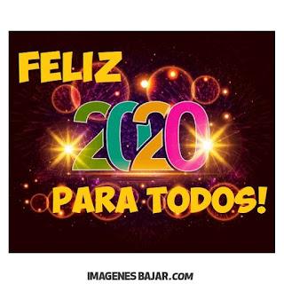 Deseos para Año Nuevo 2020 Imágenes de Felices Fiestas. Tarjetas de muchos colores para enviar por WhatsApp