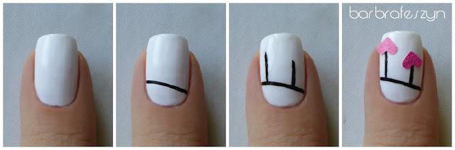 tutorial walentynkowe paznokcie