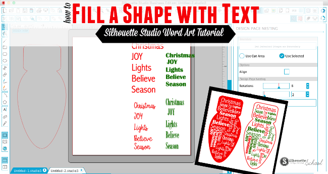 Filling shape text silhouette studio, silhouette studio advanced tutorials, silhouette cameo tutorials, design in silhouette studio
