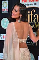 Prajna Actress in backless Cream Choli and transparent saree at IIFA Utsavam Awards 2017 0022.JPG
