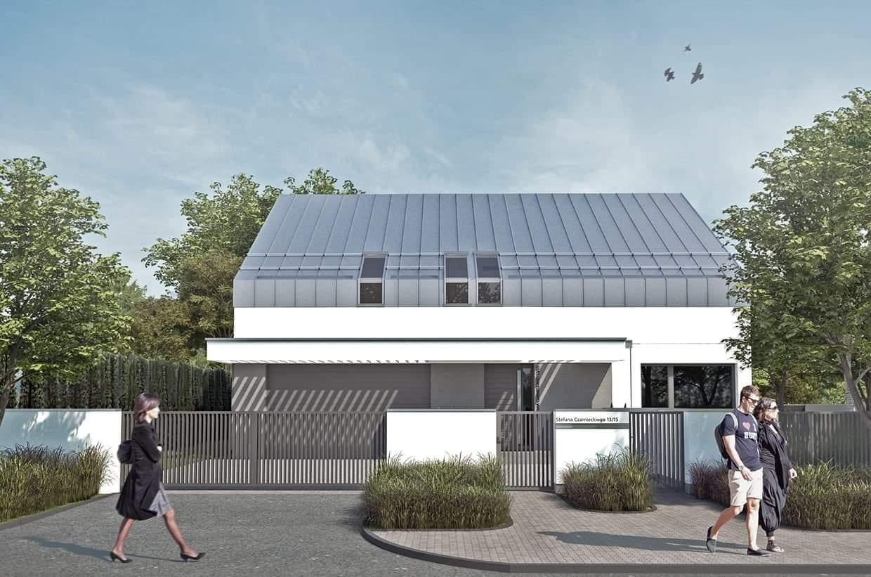 nowoczesna stodoła, budowa_fotobloo, budowafotobloo, dach bezokapowy, projekt domu, nowoczesny dom, dom stodoła, projekt indywidualny
