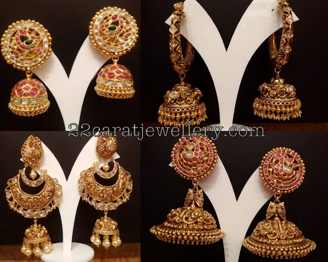 Traditional Jhumkas Antqiue Chandbalis