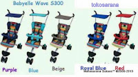 BABYELLE S300 Wave LightWeight Baby Stroller with Travel Bag