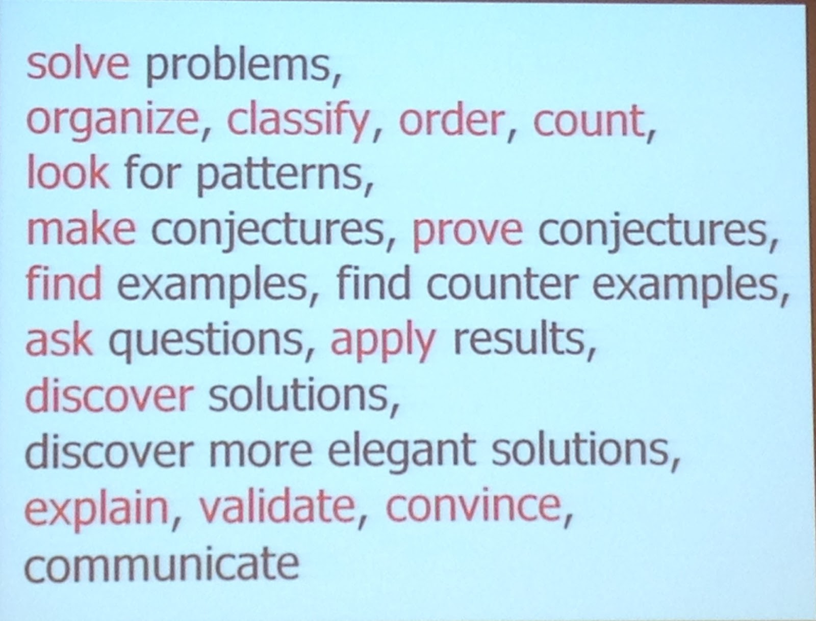 Engage in Math: Lesley University Day 1