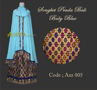 image Mukena Prada Bali baby Blue by Azzahra Collection