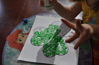 St. Patrick's day roll and cover math activity