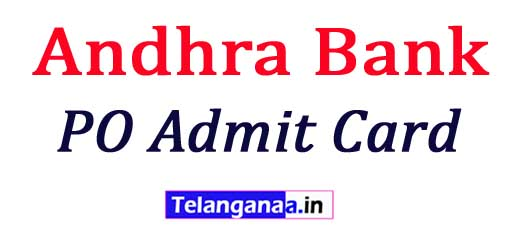 Andhra Bank PO Admit Card 2018