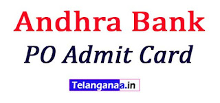 Andhra Bank PO Admit Card 2017