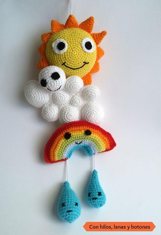 Cómo se forma el arco iris | Con hilos, lanas y botones