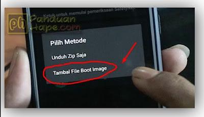 pilih menu tambal file boot image