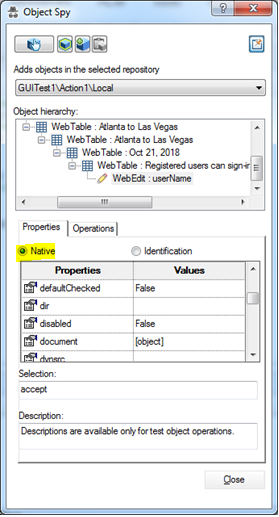 UFT | LeanFT | and Selenium WebDriver Latest Tutorials: Object Spy