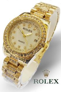 Jam Tangan Rolex Wanita Emas