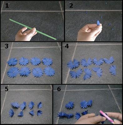 Gambar Tutorial Membuat Bunga Daisy dari Kertas Origami 1