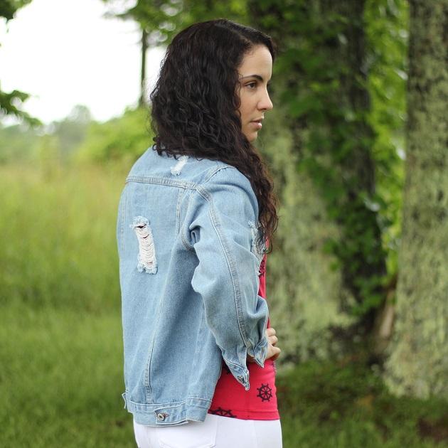 JudyBridal Distressed Denim Jacket