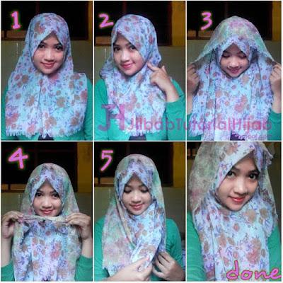 tutorial hijab segi empat modern sehari-hari terbaru