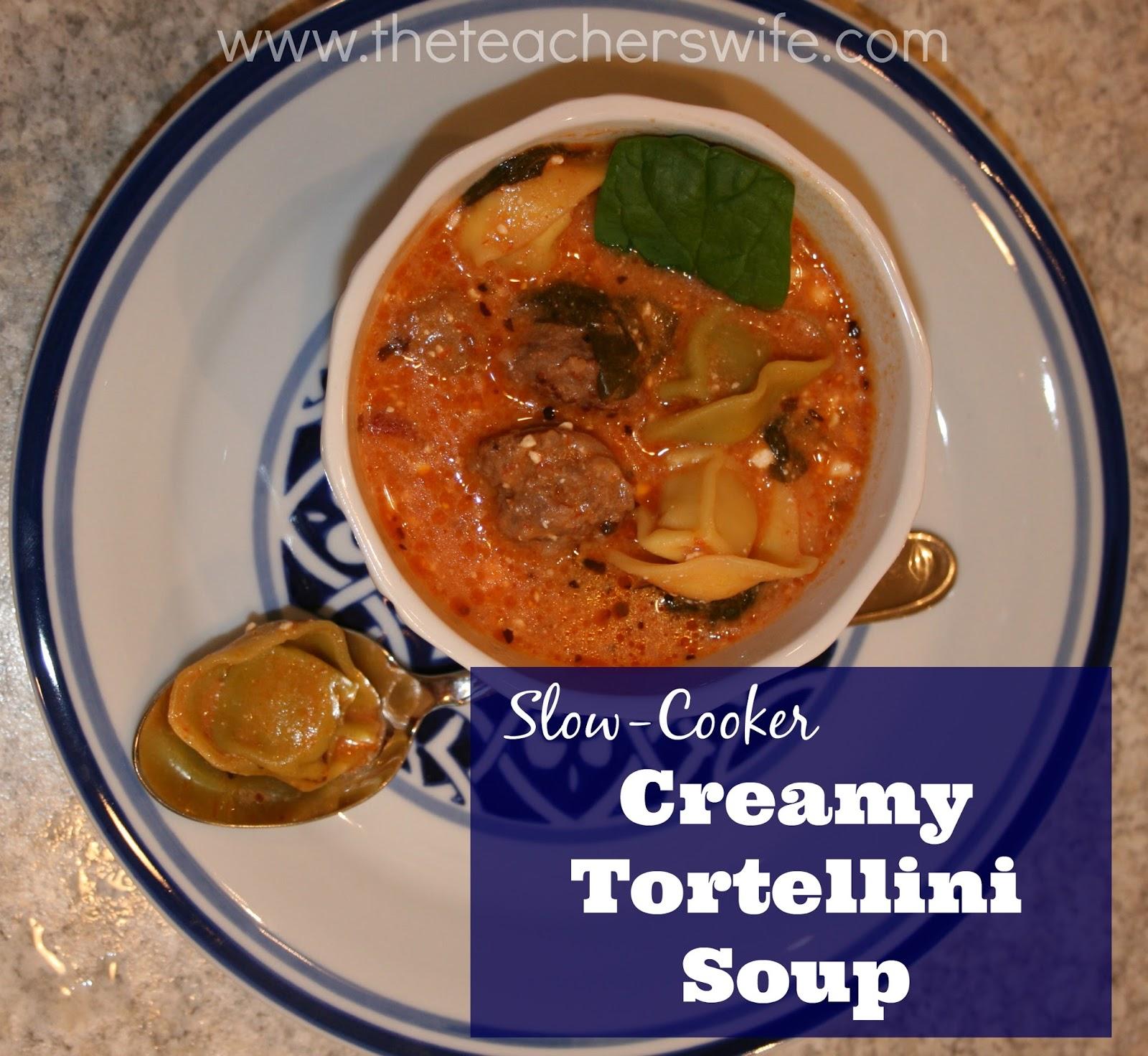 Slow Cooker Creamy Tortellini Soup Recipe: Slow-Cooker Creamy Tortellini Soup