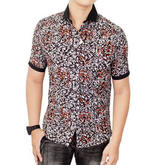 Model Baju Batik Pria Lengan Pendek