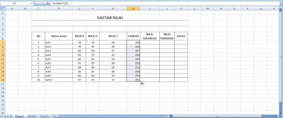 Blog Kopinet Rumus Excel Otomatis