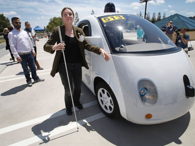 Blind people in Self-driving Cars