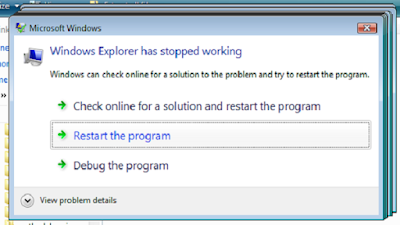 "Cara Atasi Pesan Error ""Windows Explorrer Has Stopped Working"""