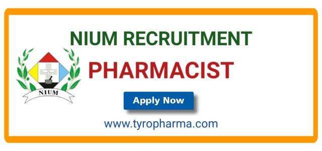 nium job,pharmacist,unani,recruitment