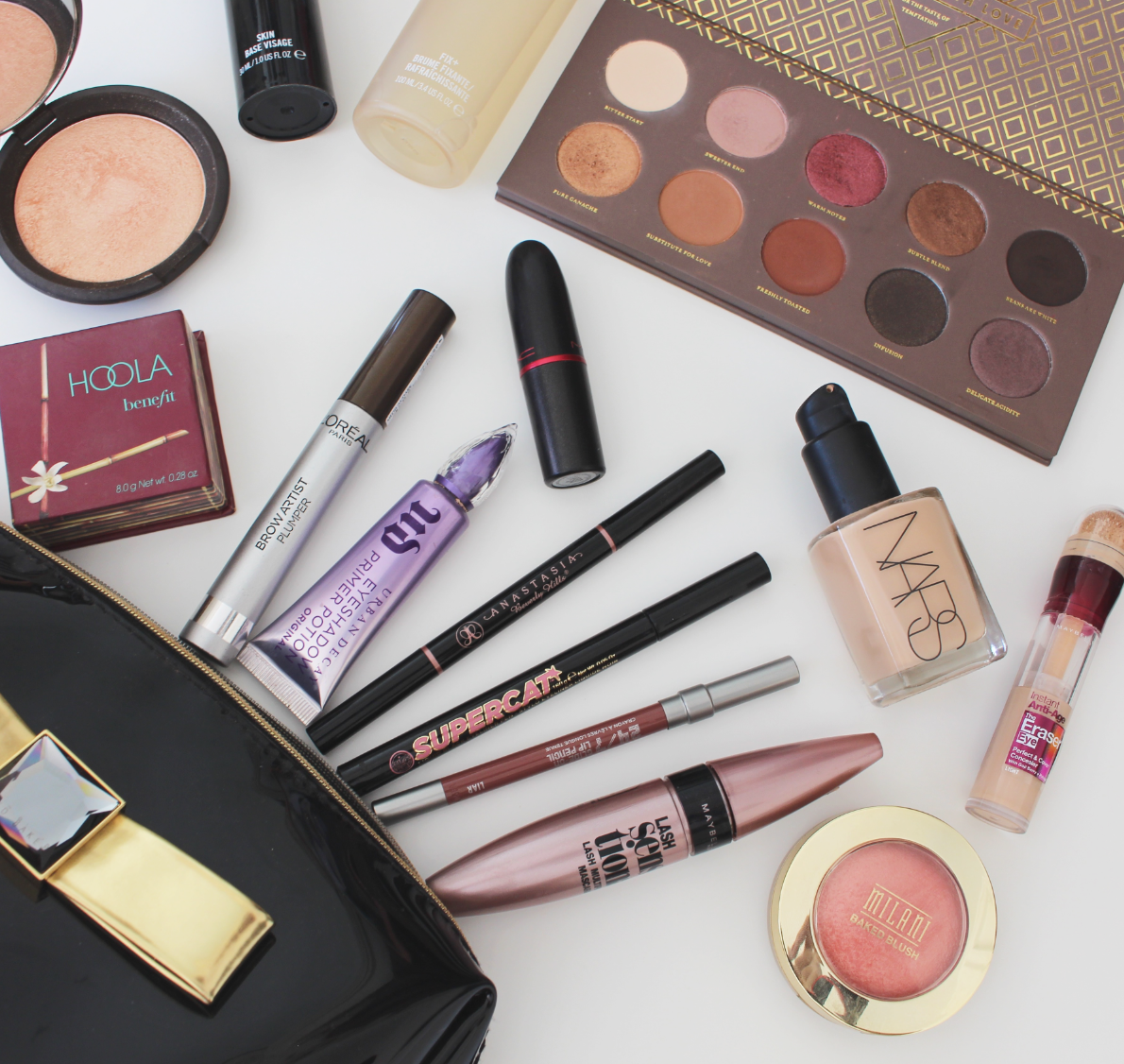 Makeup Products, Flat lay, Essentials