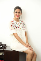 Lavanya Tripathi in Summer Style Spicy Short White Dress at her Interview  Exclusive 122.JPG