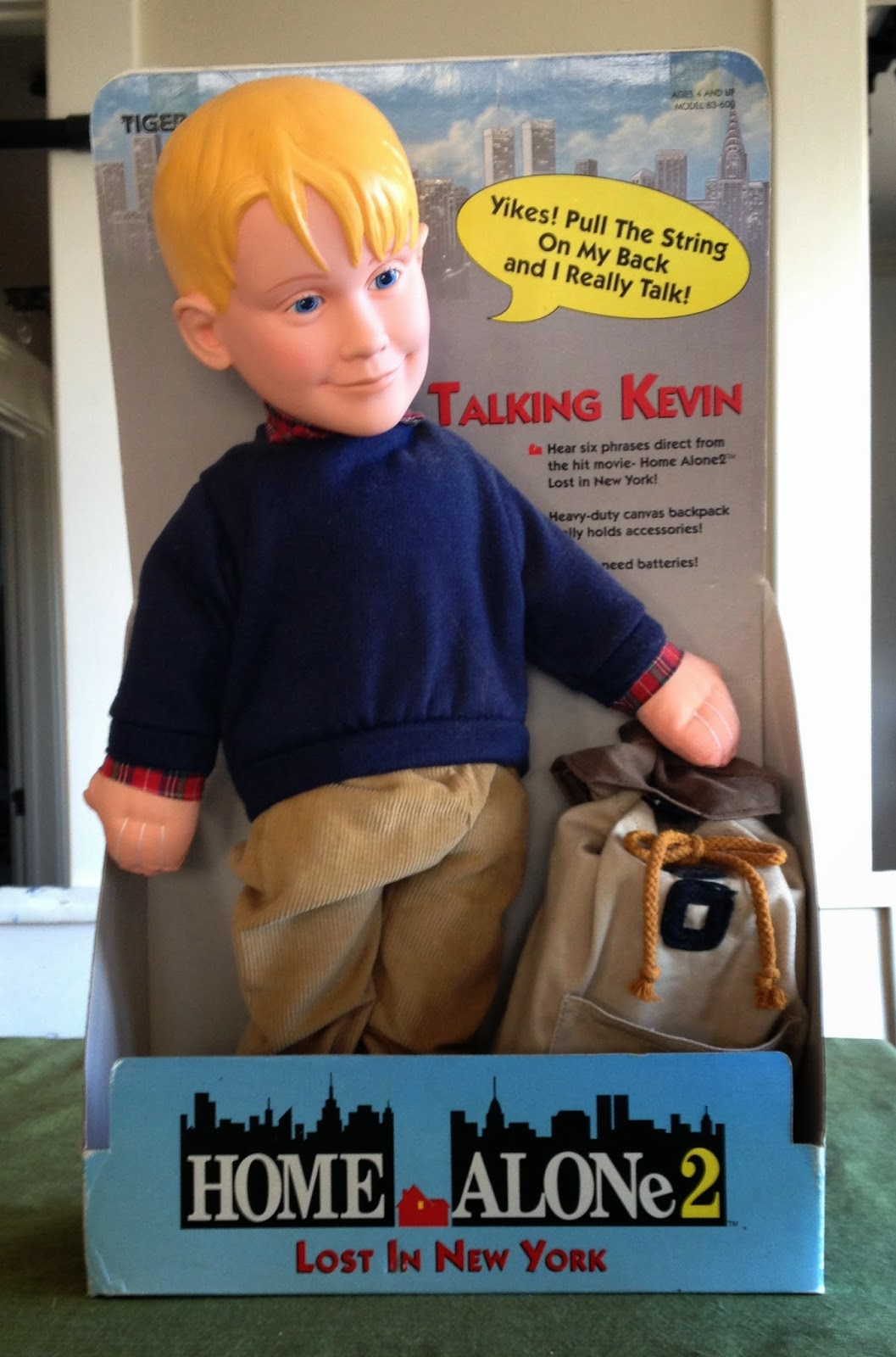 Home Alone 2 talking Kevin doll