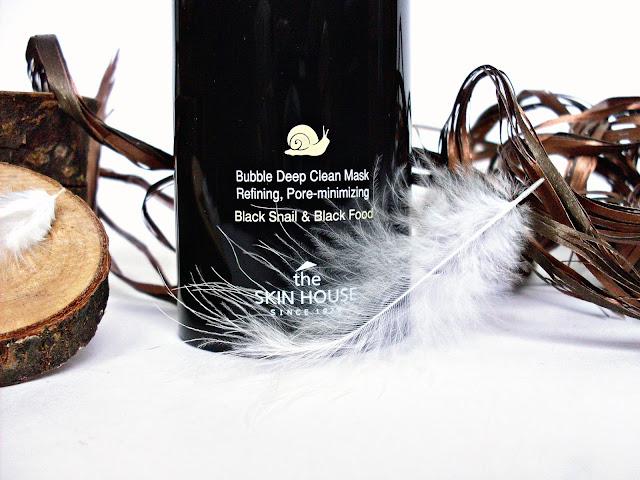 BLACK SNAIL BUBBLE MASK от The Skin House, BLACK SNAIL BUBBLE MASK от The Skin House отзывы, пузырьковая маска, корейская косметика, маска с улиткой и углем.