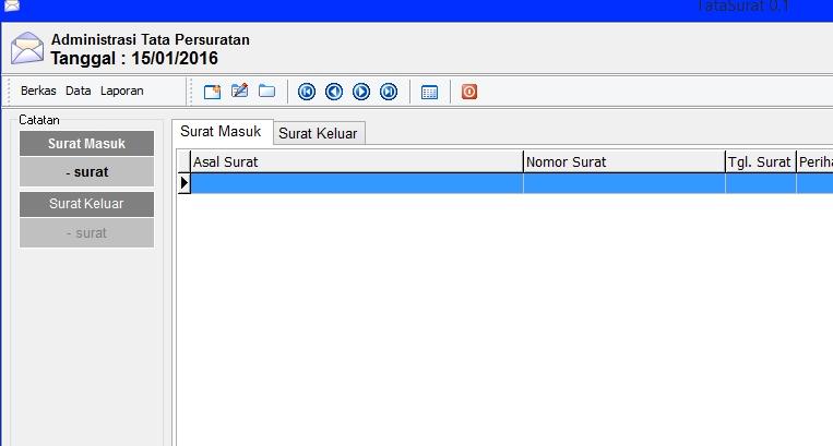 Aplikasi Administrasi Surat Masuk Surat Keluar Data Sekolah