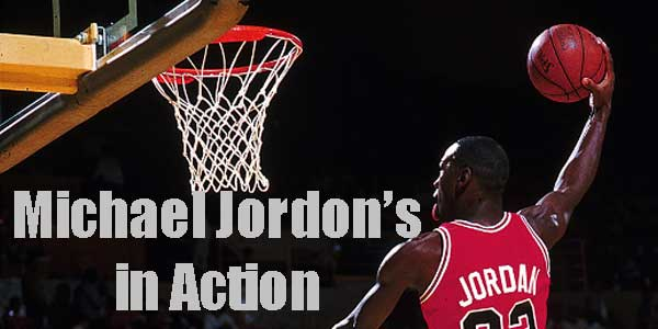 Michael Jordon in action picture