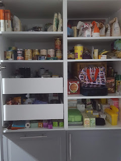 My neat and tidy, and quite full Pantry