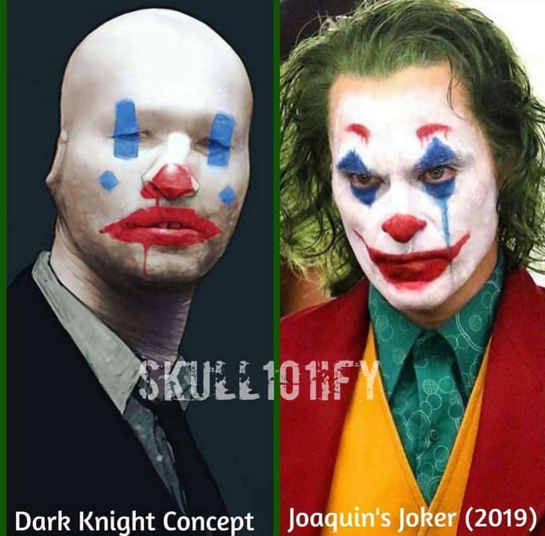Is Joaquin Phoenix's Joker based on a concept art from The Dark Knight ? : ホアキン・フェニックス主演の「ジョーカー」のキャラクター・デザインは、クリス・ノーラン監督の「ザ・ダークナイト」のコンセプト・アートが下敷きになっているの ? !