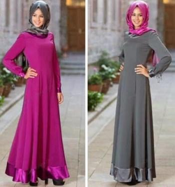 Contoh baju muslim trendy yang syar'i model terbaru
