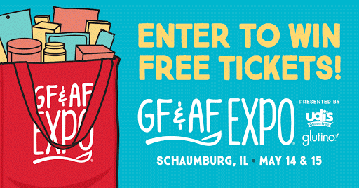 Enter to #win 1 of 5 1-day passes to #Chicago's Gluten Free & Allergen Friendly Expo on May 14th & May 15th! Ends 4/19 US/18+ #Ad #glutenfree #allergenfree #giveaway