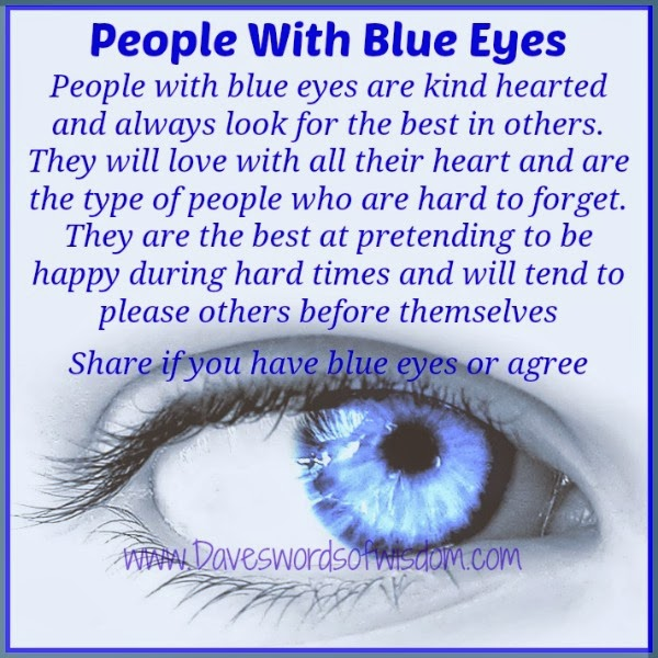Blue Eyed Baby Girl Quotes: Daveswordsofwisdom.com: Those Blue Eyed People In Our Lives