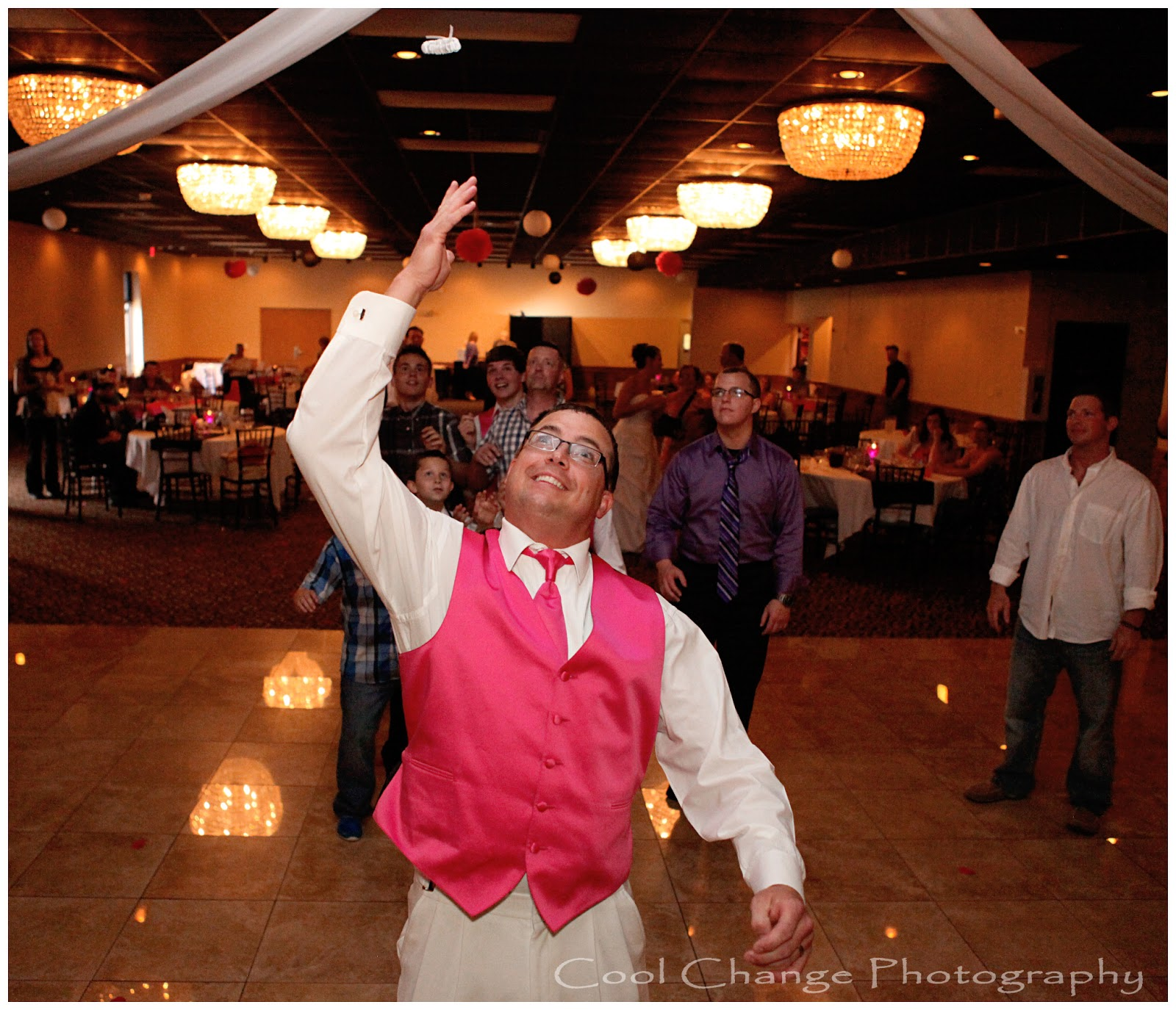 Ceremony And Reception In Same Room: Wedding Photography: The