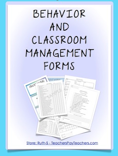 photo of Behavior and Classroom Management Forms for Teachers, PDF, behavior management, Ruth S., TeachersPayTeachers.com