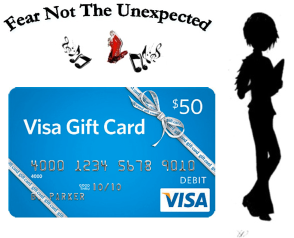 com you ll be e... $50 Visa Gift Card Png