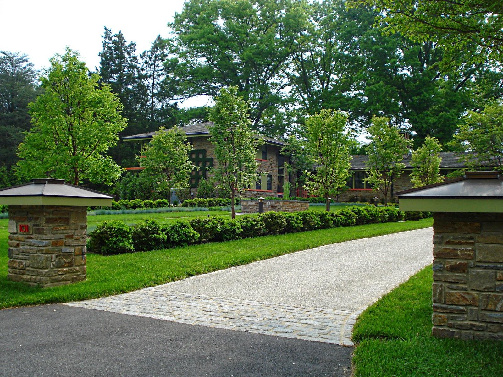 Driveway Entrance Landscaping Design - Landscape Ideas