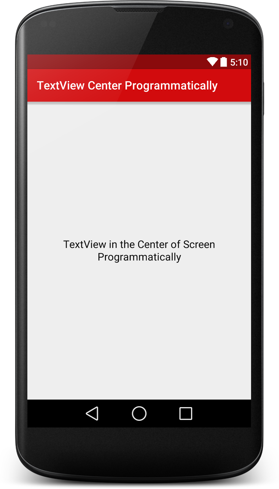 Programmatically Align Android TextView in the Center of the Screen