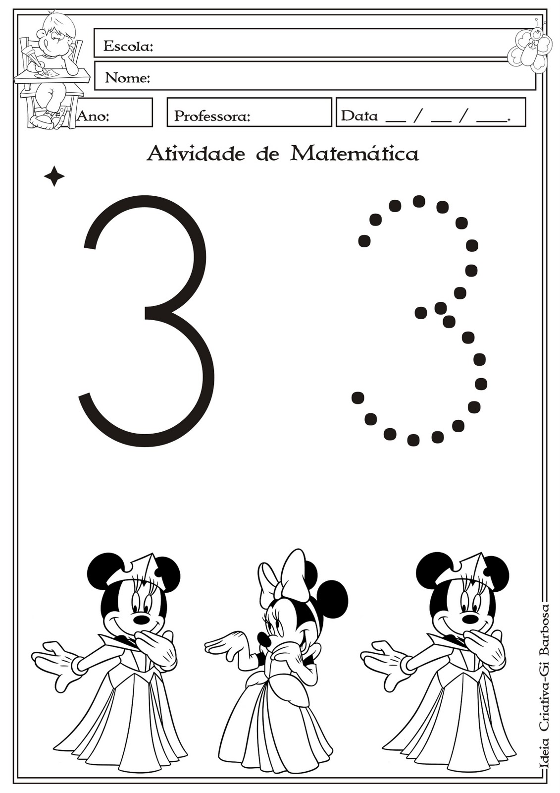 56 Free Download Numeral 3 Para Colorir Worksheets For