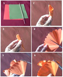 Tutorial membuat bunga terompet dari kertas part 1