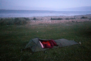 It was dark when we pitched our tents