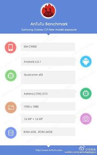 Samsung Galaxy C9 - Smartphone Samsung Pertama dengan RAM 6GB